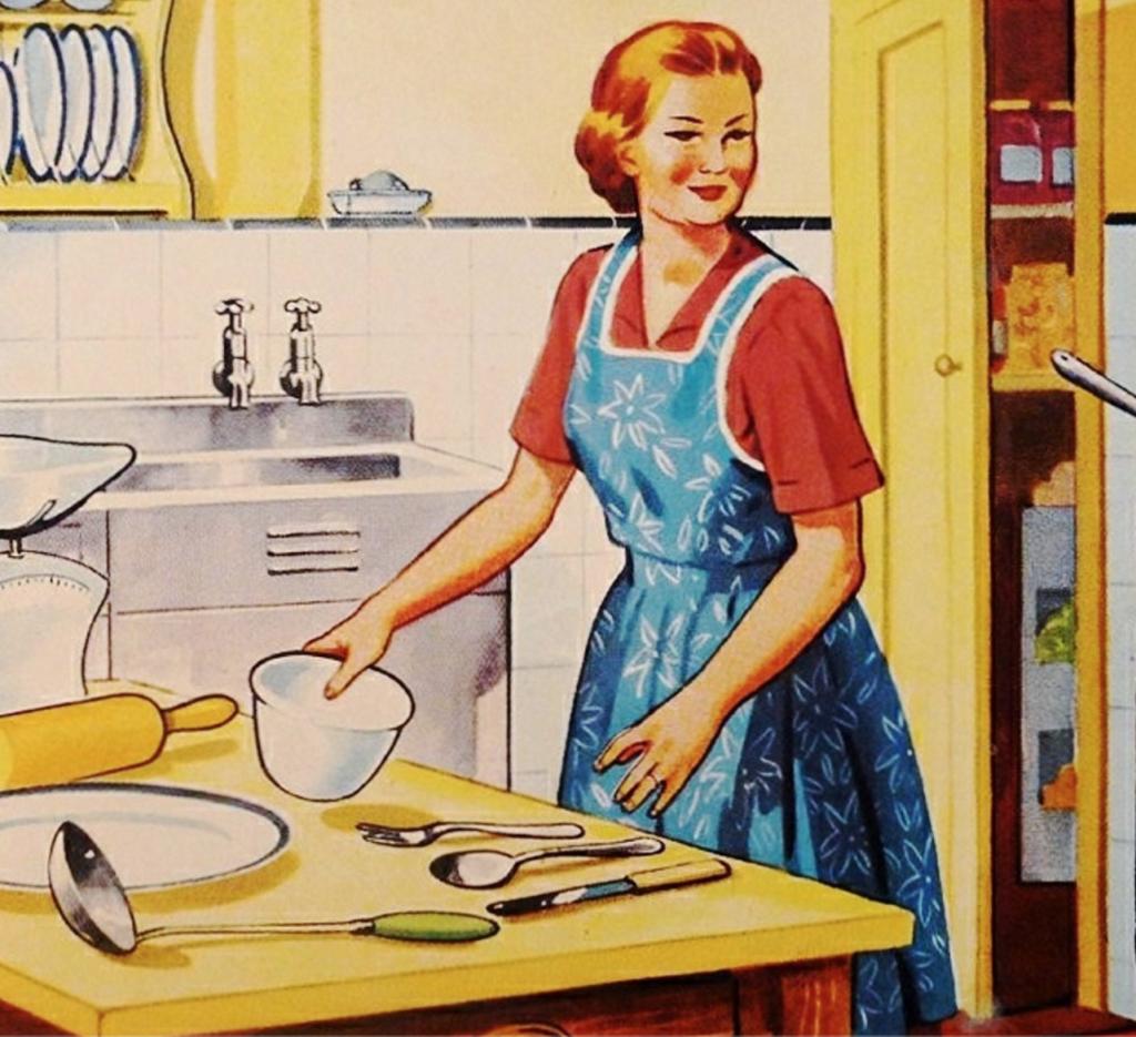 háziasszony dolgozó anyuka